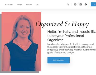 Minimalistic clean website for a Professional Organizer