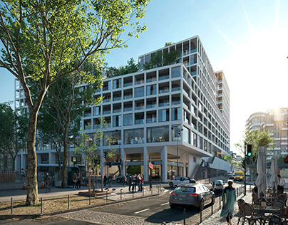 Multifunctional building in Paris.