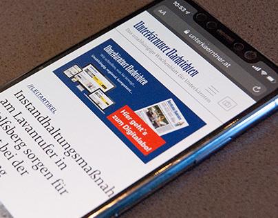 Newspaper Website Unterkärntner Nachrichten