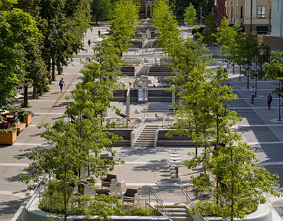 PUBLIC SPACE IN DNIPRO CITY / VK ARCHITECTS