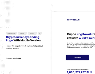 Cryptochain Landing Page Concept