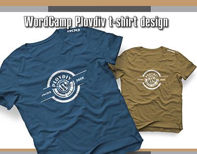 WordCamp Plovdiv 2020 t-shirt design