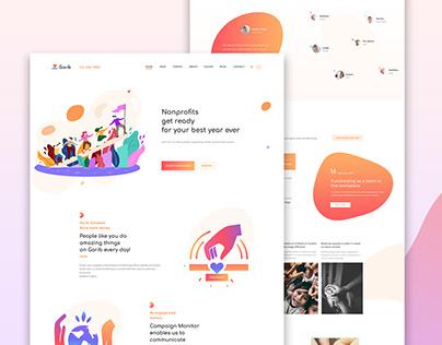 Non-profit organization & Charity site design