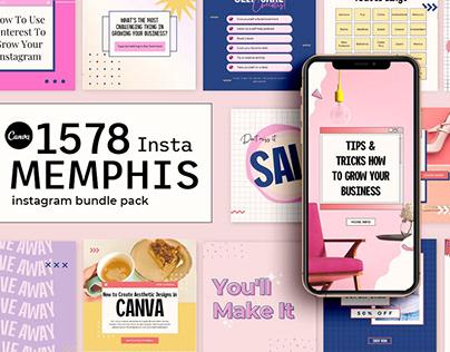 1578+ CANVA Instagram Booster Bundle