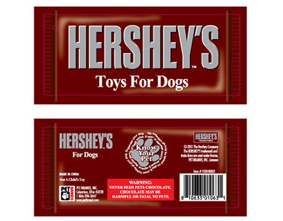 Hang Tag Line - Pet Brands, Inc. Hershey's Licensee