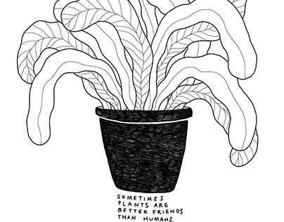 Plants are Friends // Illustration