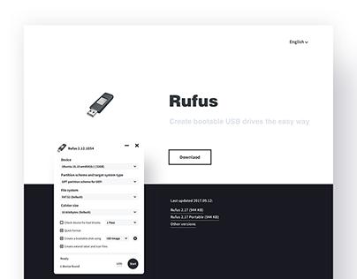 Rufus Website Redesign