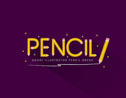 Pencil Pattern Brush - Adobe Illustrator Tutorial