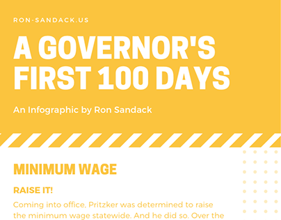 A Governor's First 100 Days Infographic | Ron Sandack