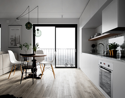 Interior visualization of place in Stockholm (Sweden)
