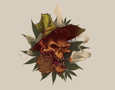 Ghost Farm Skull- Illustration