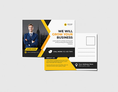 Corporate Modern Postcard or eddm Postcard design