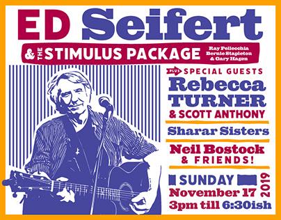 Ed Seifert – gig poster