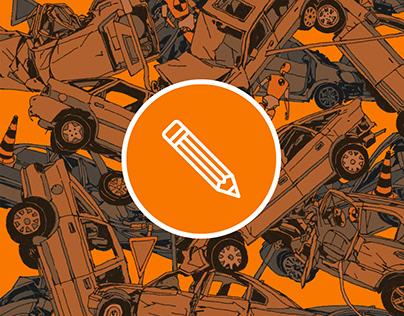 Illustrator // Car Chrash