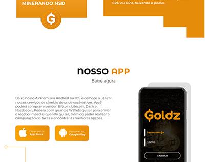 GOLDZ - Landing Page.