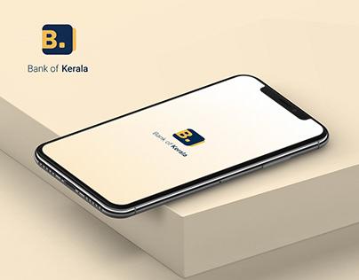 Bank of Kerala Mobile App & Logo Design Concept