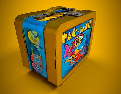 Quick Vintage Pacman lunchbox 3D Model