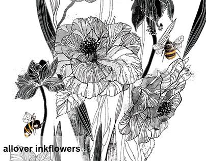 Alloverinkflower