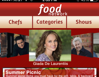Food Network Store Mobile App