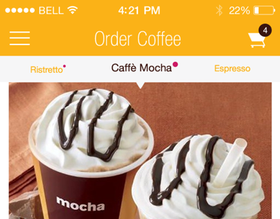 Casa Coffee - Concept IOS 7 coffee app