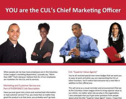 Internal Communication Piece - Columbus Urban League