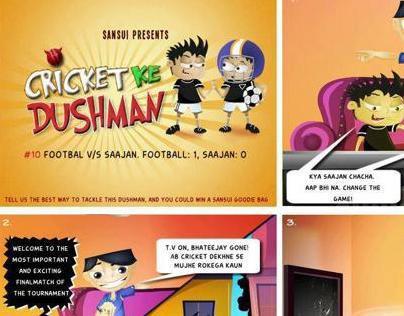 Comic Strip for Sansui India