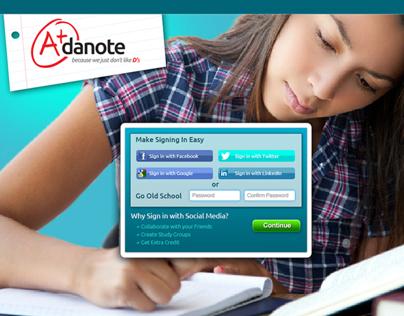 Landing Page - Adanote