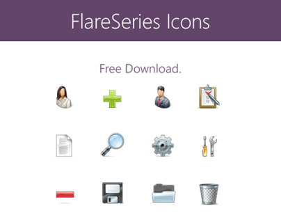 FlareSeries Stock Icons