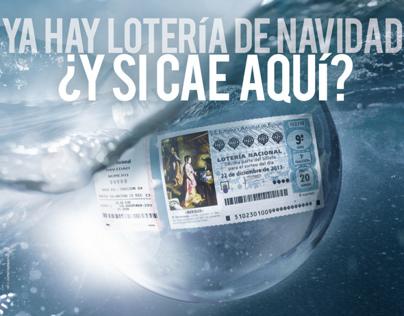 Cartel Lotería Nacional de Navidad Campaña Verano 2013