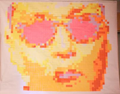 PSY Post-it Art