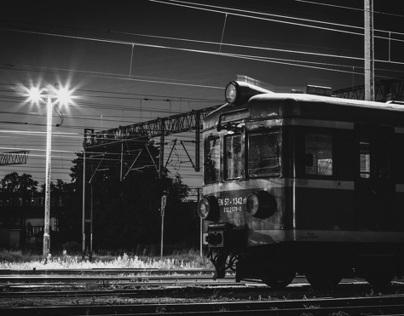 Track-way at night