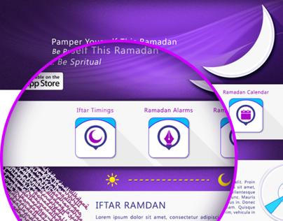 iOS App Iftar Ramadan Website 2013
