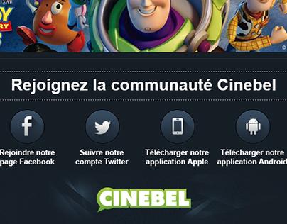 Newsletter et promo Cinebel.be