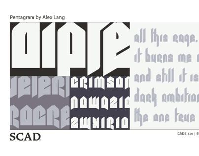 Pentagram Typeface