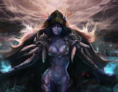Sylvanas Windrunner for World of Warcraft Tribute Book