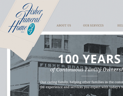 Fisher Funeral Home Website Design