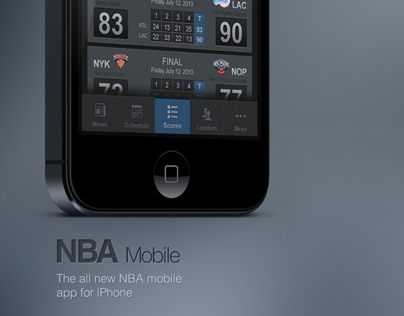 NBA Mobile App for iPhone