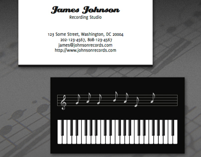 Musical Business Card
