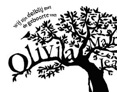 Birth announcement Olivia