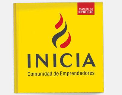INICIA   Comunidad de Emprendedores identity brandbook