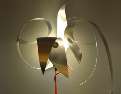 """Light sculpture """"Clipsflower"""""""