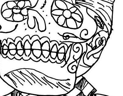 Muertos sketch for magazine spread