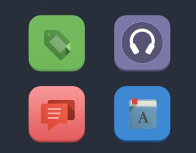 iOS 7 Flat Icons - App Icons
