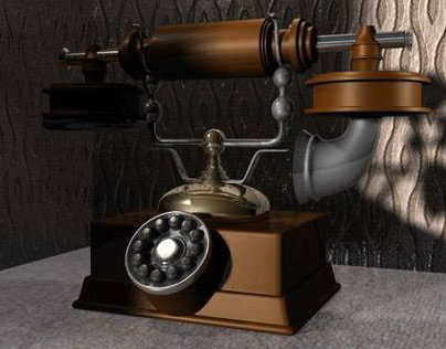 Old Telephone in Maya