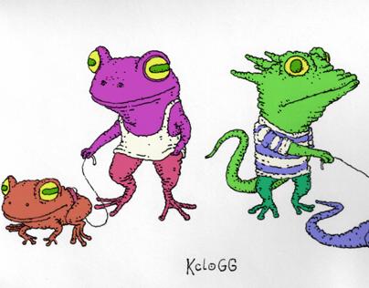 Walk the frog, walk the lizard