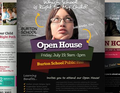 School Open House Flyers On Behance - School open house flyer template free