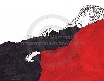 Blanco y negro y rojo - Black & white & red