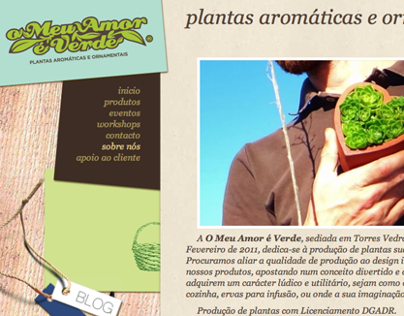 Website O Meu Amor é Verde
