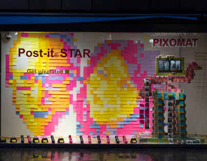Post-it® Star - Get pixelated