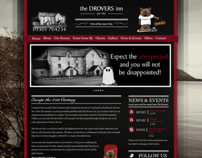 The Drovers Inn Website